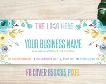 Mint Boho LLR FB Cover, Flower Cover, Banner