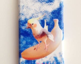 Banana surfer parakeet // smart phone case