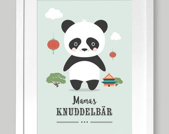 "Poster A4 ""Mama's cuddle bear"" nursery"