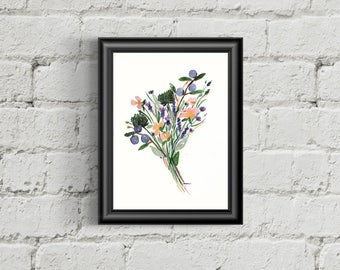 Floral Print, Giclee, Watercolor, Flower