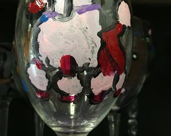 Breed specific wine glasses