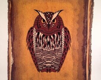 Owl Wood Print (Medium)