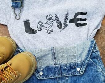 Roster Love Farm shirt