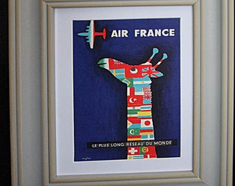 Air France Illustrated Postcard 1956