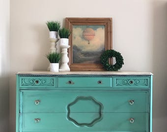 Sold - Example - Beautiful Upcycled Green Dresser