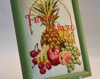 Feeling Fruity? Fruit Salad Needlepoint