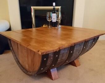 Half Whisky Barrel Coffee Table