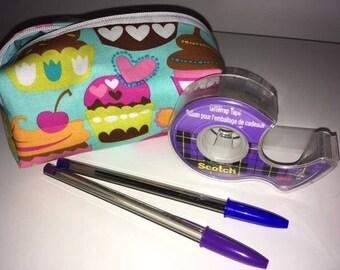 Sale - Pencil case - Make up case - cupcakes
