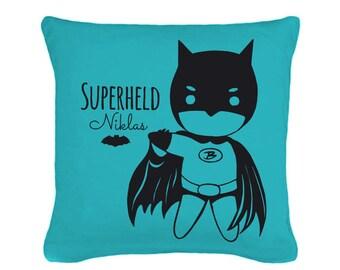 Pillow super hero name of desire including filling (K24)