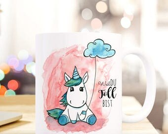 Gift coffee cup Unicorn because you're great TS300