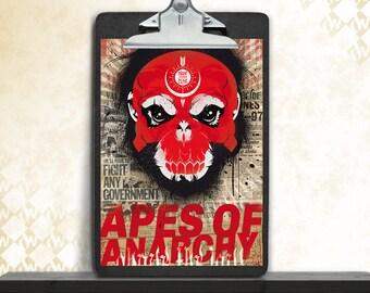Apes of anarchy, art print, fine art print, poster, art print, urban art