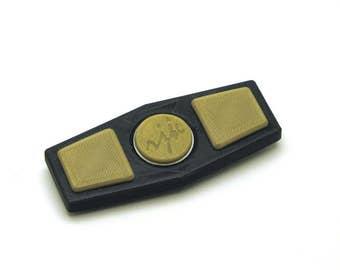 3D Printed Fidget Spinner (Black/Gold)