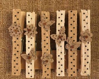 Chic Burlap Decorative Clothespins