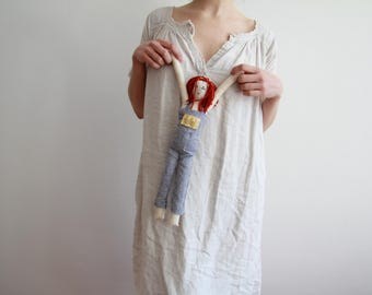 Personalised dolls made from cotton, wool and linen - custom items