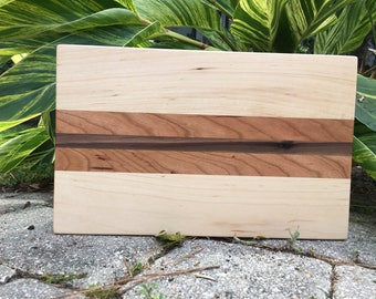 Handmade Hardwood Cutting Board - Cherry, Maple, Walnut