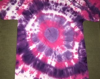 Small pink and purple tie dye shirt