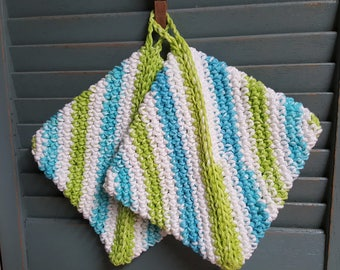 Pair of Handcrafted crocheted Pot Holders, Hot Pads, Trivets 100% cotton