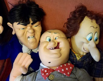 "The Three Stooges dolls - genuine Spumco Collectibles - 22"" tall"
