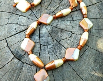Acrylic beaded necklace plastic beaded jewelry brown leather necklace glass beads brown costume jewelry big bead chunky statement necklace