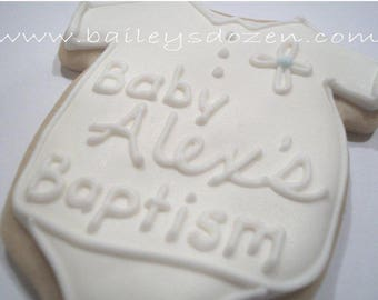 Baptism favor | Personalized Baby Onesie | Custom decorated cookies | New Baby Christening | Bautizo