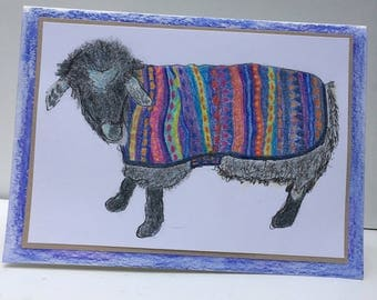 Handcrafted Pygora Goat Note Card