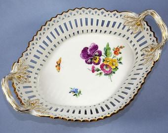 Antique KPM Porcelain Basket