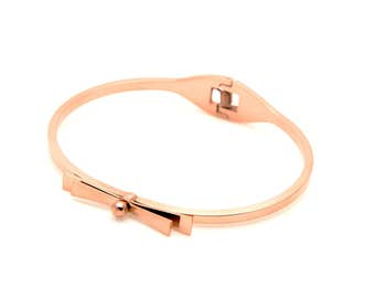 Wrist loop Bow pink gold