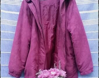 90s Mom Suede Puffer/Padded/Ski Jacket (large/oversized)
