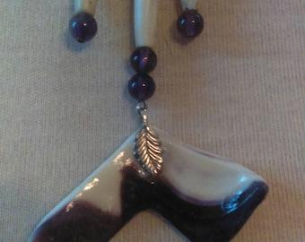 Wampum jewelry.
