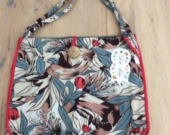 Handbag - One of a kind handmade handbag made of recycled materials.