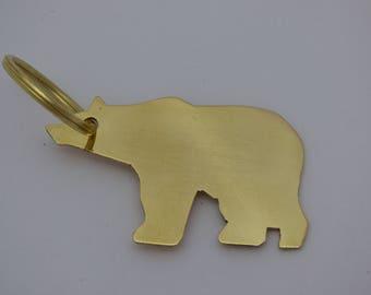Bear key ring, polar bear,Bear key fob, bear gifts,Polar bear gift, polar bear key ring, bear key ring,brass key ring, polar bear key fob