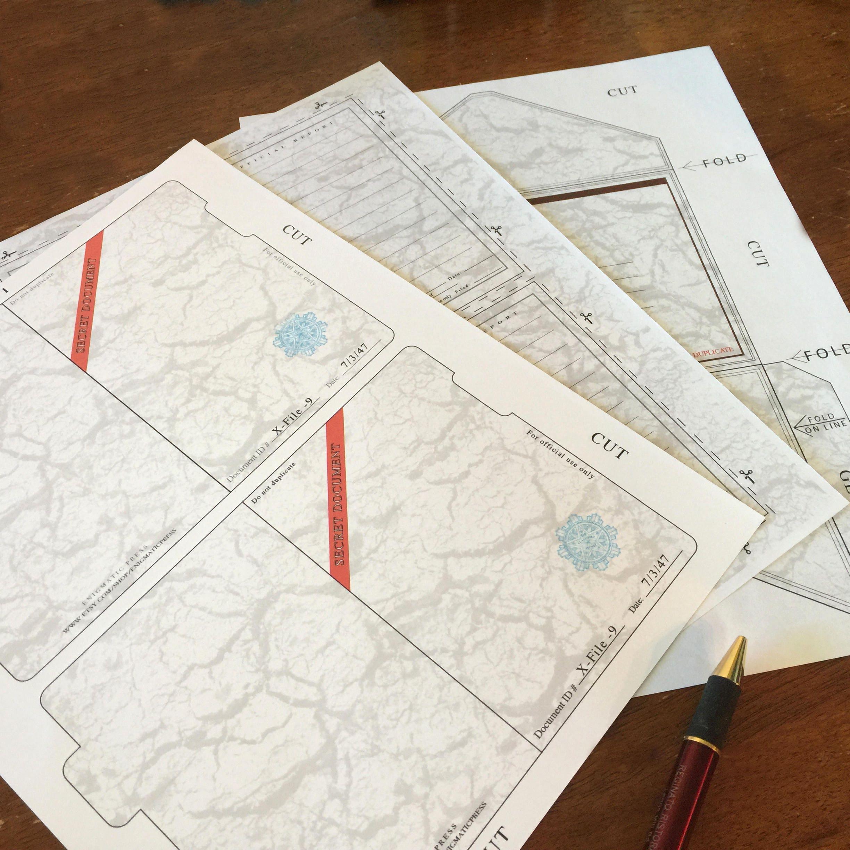 Top secret plain folder invitation cards geocaching conspiracy top secret plain folder invitation cards geocaching conspiracy themed party printable pdf download kristyandbryce Gallery