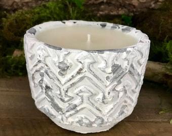 Vintage White Pot Candle