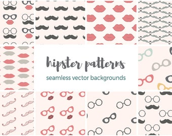 Hipster Patterns Vector