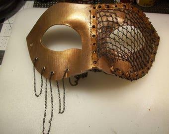Steampunk Chain & mesh Masquerade Mask