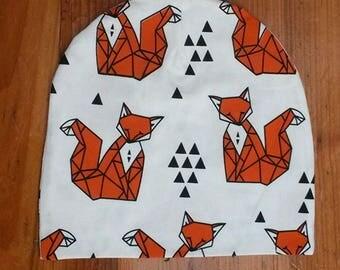Fox Print Toddler Beanie