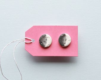 Luna, Polymer Clay earrings made to order
