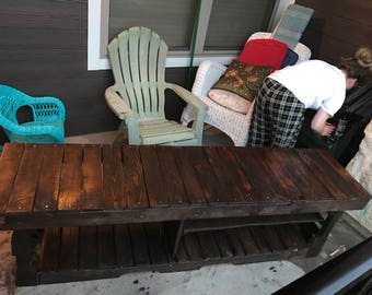 Entryway bench with shoe and boot storage