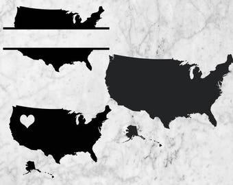 Us Map Svg Etsy - Us map svg