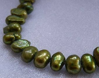 Olive Fresh Water Pearls  4~ 5 mm Olive Pearls Bead Supplies Jewlery & Beading Supplies Beads Craft Supplies and Tools Pearls on Strand