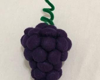 Hand-made Felt Grapes