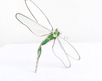 Handmade Stained Glass Dragonfly
