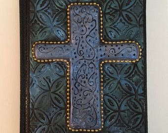Polymer Clay Cross Journal Cover and Journal