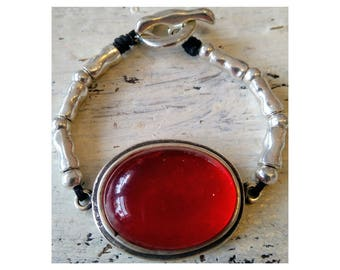 Bracelet color resin me red maxi