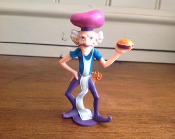 Vintage plastic strawberry shortcake figure The purple pieman
