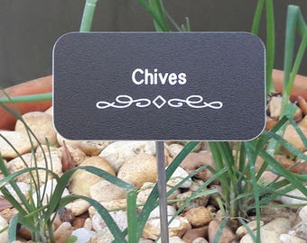 Custom Engraved Herb Labels & Garden Stakes, Vegetable Markers, UV- resistant Herb Garden Labels, Made to Order Labels, Garden Markers