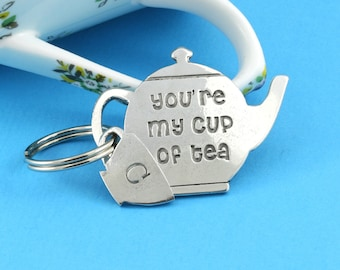 My Cup of Tea Pewter Keyring for Tealovers and just Lovers