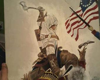 Assassins Creed 3 Connor Painting