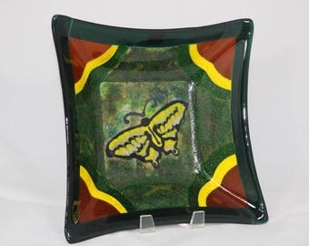 Butterfly Fused Glass Bowl