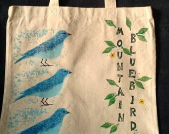 Mountain Bluebird Market Tote